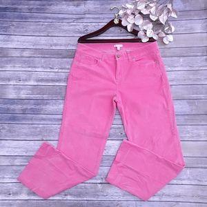 Lilly Pulitzer bubblegum pink soft corduroy pants